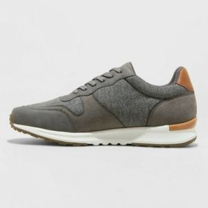 New Mens Casual Lace-up Sneakers Grey 8.5